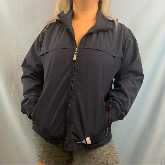 adidas Jackets & Blazers - Vintage Adidas Navy Zip Up Windbreaker